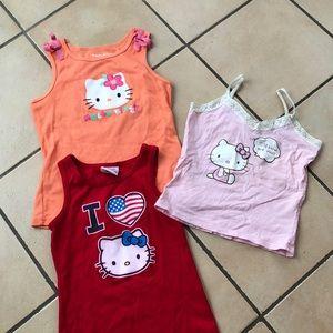 Like-new set of 3 Hello Kitty tank tops